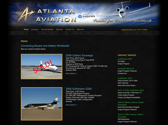 Atlanta Aviation website design