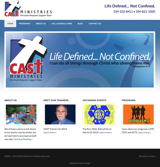 CAST Ministries website design